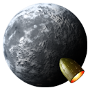 , Moon, Rocket icon