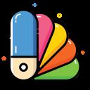 school, color guide, catalog, colorful, office icon