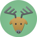 rudolf, deer, reindeer, christmas icon