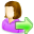 go, female, user icon