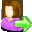 go, user, female icon