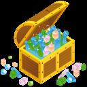 treasure chest open icon