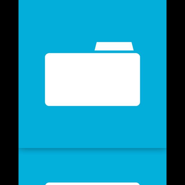 folder, mirror, blank icon