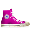 pink, dirty, converse icon
