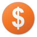 funding, investment, currency, round, dollar, red icon