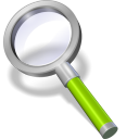 search green neon icon