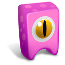 pink, creature icon