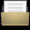 Document, Manilla, Open icon