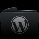 Black, Folder, Wordpress icon
