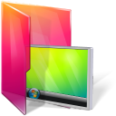 Aurora, Desktop, Folder, Monitor, Screen icon