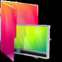 Aurora, Desktop, Folders, texto icon