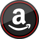 media, social, logo, amazon icon