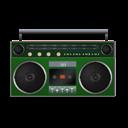 Boombox, Green icon