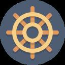wheel, steering wheel icon