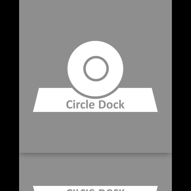 circle, dock, mirror icon