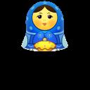 blue matreshka upper part icon