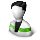 user, green icon