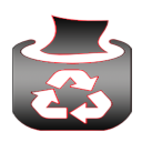 Has been filled with the recycle bin icon