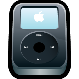 black, ipod, video, apple icon