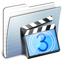 movie, folder, video, graphite, film, stripped icon