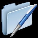 vector, folder, badged icon