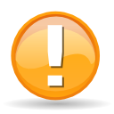 Actions messagebox warning icon