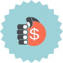 dollar, hand, coin, hand holding coin, hand with dollar, ecommerce, sign icon