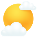 weather, clouds, sun icon