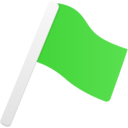 flag green icon