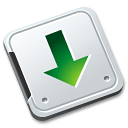 folder, fall, decrease, descend, download, down, descending icon
