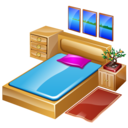 sleep, furniture, bed, hotelroom, bedroom icon