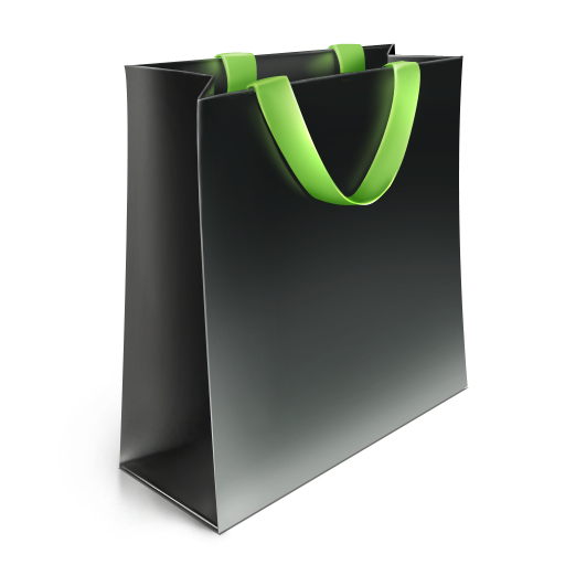 green, bag icon