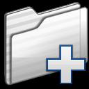 new,folder,white icon