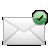 mail, check icon
