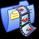 blue, video, folder icon