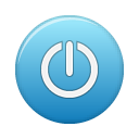 power, blue icon