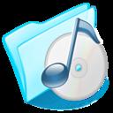 dossier,blue,musique icon