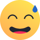face, reaction, embarrass, emoji, emot, sweat icon