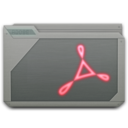 folder adobe acrobat icon