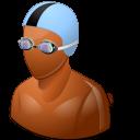 Sport Swimmer Male Dark icon