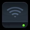 disk,dark,airport icon