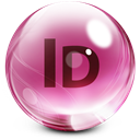 Adobe, Glass, Indesign icon