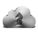 Cloud, Gamecenter, Silver icon