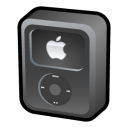 ipod, black, video icon