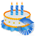 Birthday, Cake, Reload icon