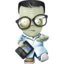 geek zombie icon