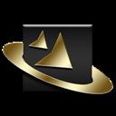 Alt, Gold, Powerdvd icon