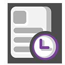 myrecent,recent,document icon
