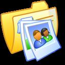 Folder Yellow Pics 1 icon
