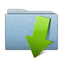 descending, fall, folder, blue, descend, decrease, down, download icon